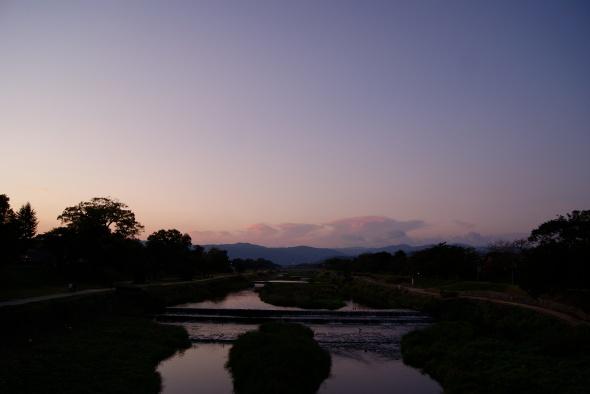 Kamo, la rivière de Kyoto