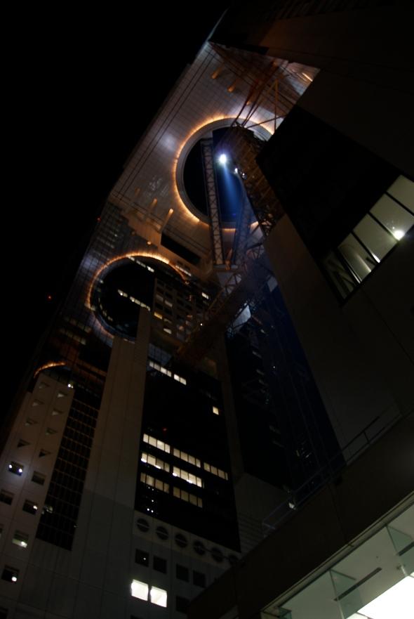 sky building de nuit