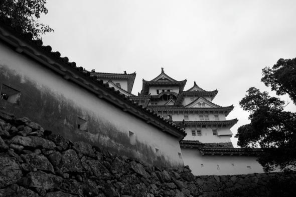 Himeji-Jô noir et blanc