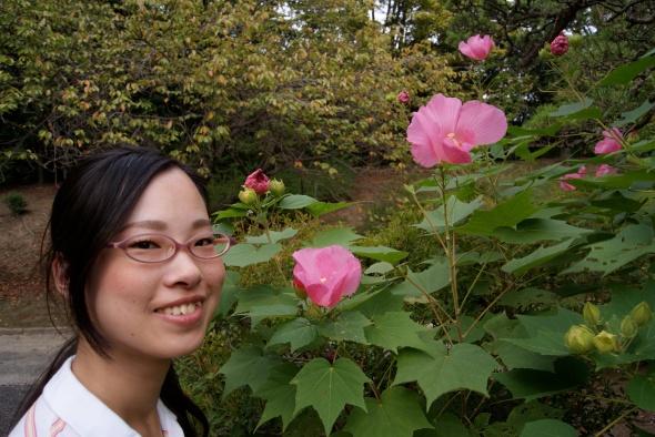 fleur magnifique...et fleurs roses