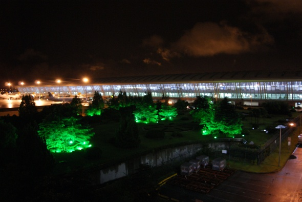 lumieres et aeroport Shanghai
